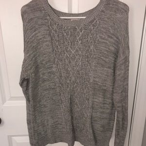 Mossimo Grey Cable Sweater